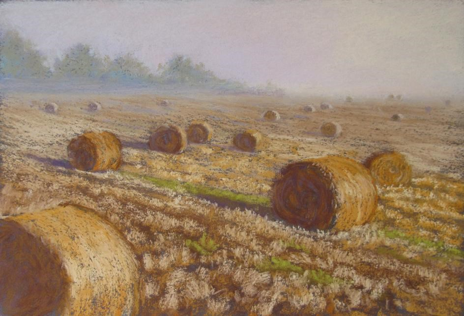 """Bales"" original fine art by Ruth Mann"