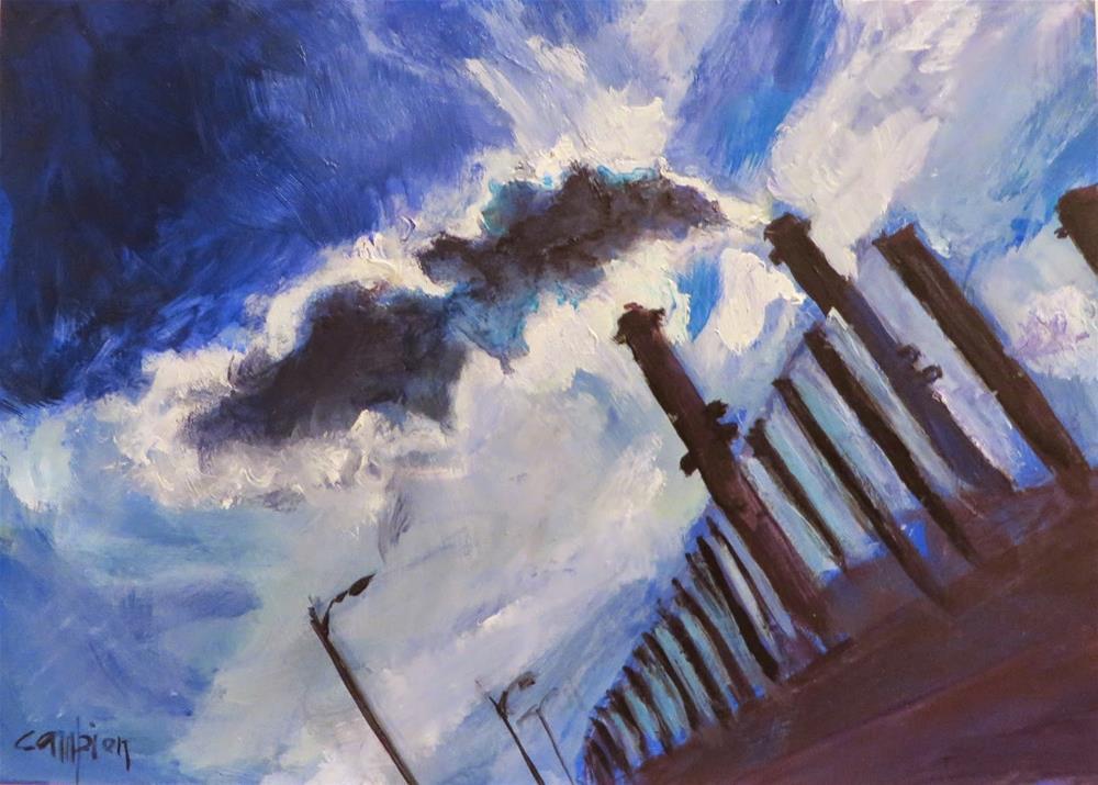 """530 Leaving Town"" original fine art by Diane Campion"
