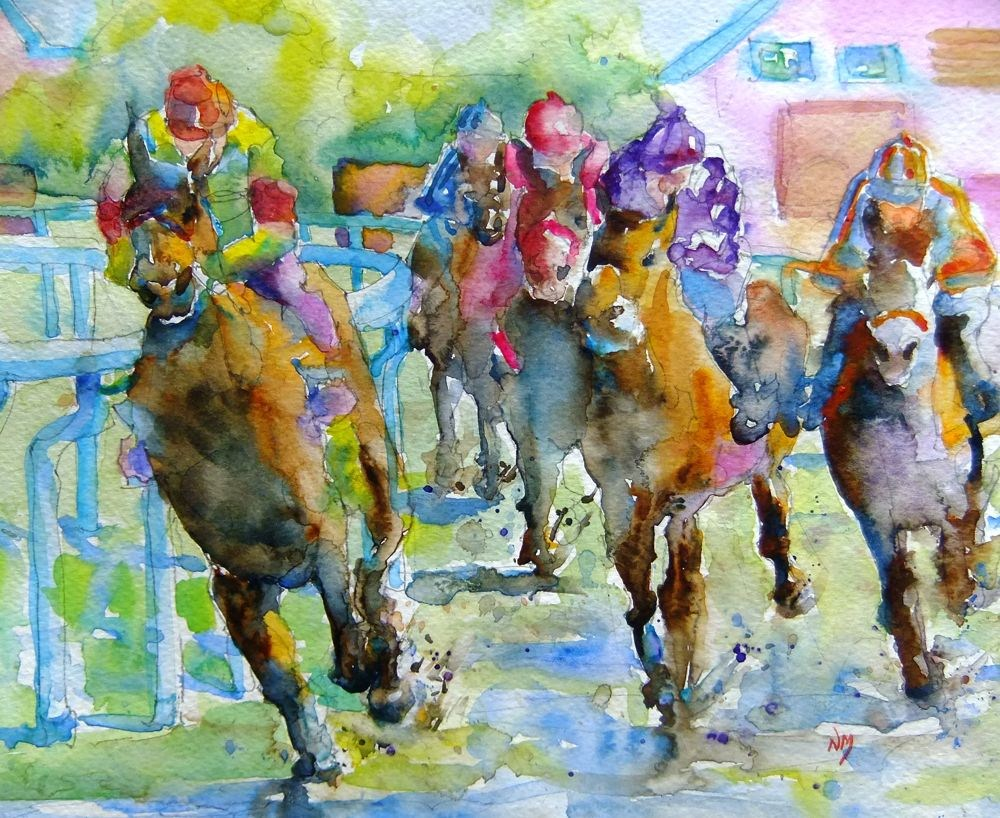 """back on track"" original fine art by Nora MacPhail"