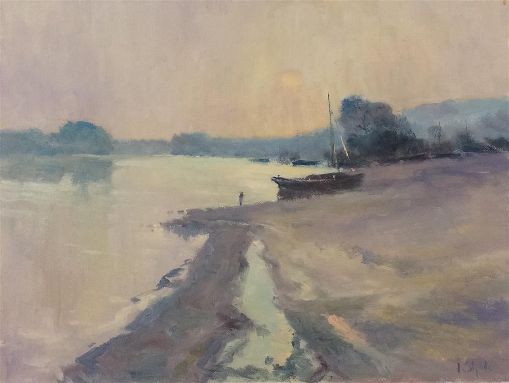 """Through The Morning Mist"" original fine art by John Shave"