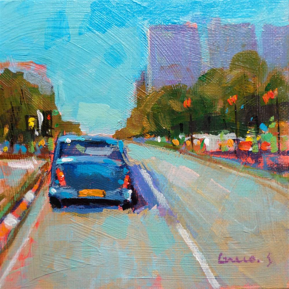 """CAR"" original fine art by salvatore greco"