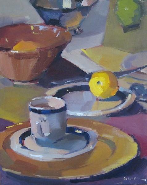 """A Landscape on the Table"" original fine art by Sarah Sedwick"