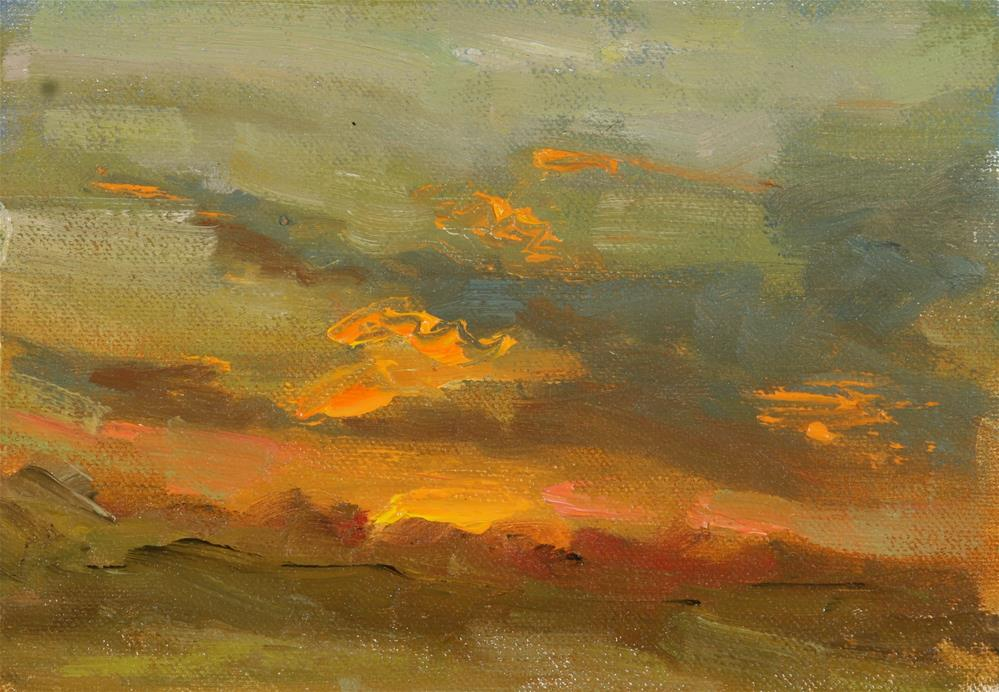 """Summer Sunset 03"" original fine art by Scott Serafica"