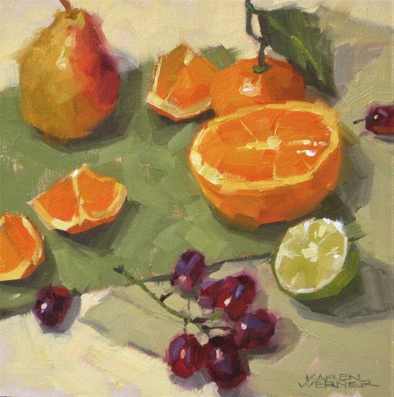 """""""Leftovers"""" original fine art by Karen Werner"""