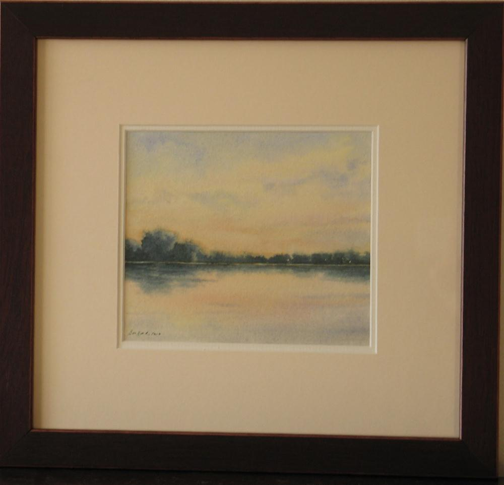 """Quiet Reflection~ framed"" original fine art by Vikki Bouffard"