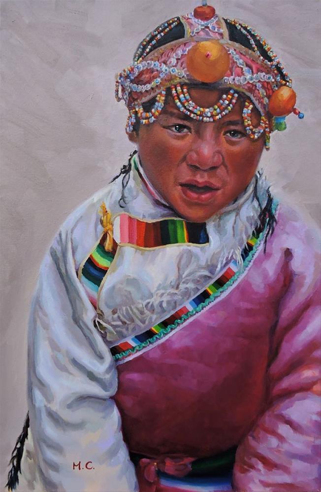 """Tibetan Girl"" original fine art by Michelle chen"