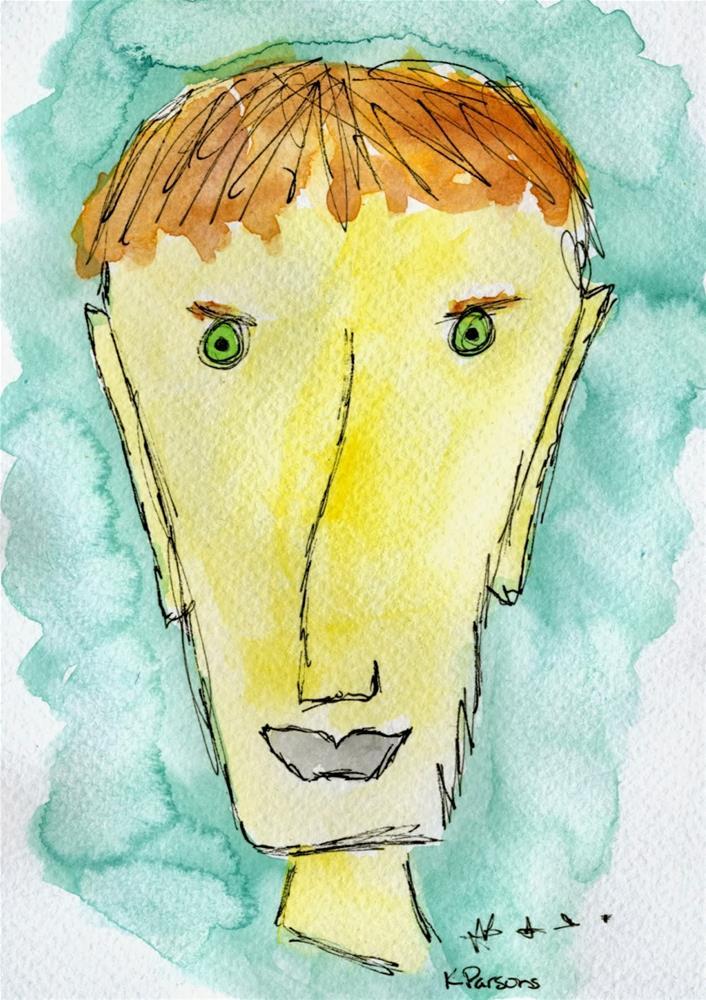 """Glaringly Obvious"" original fine art by Kali Parsons"