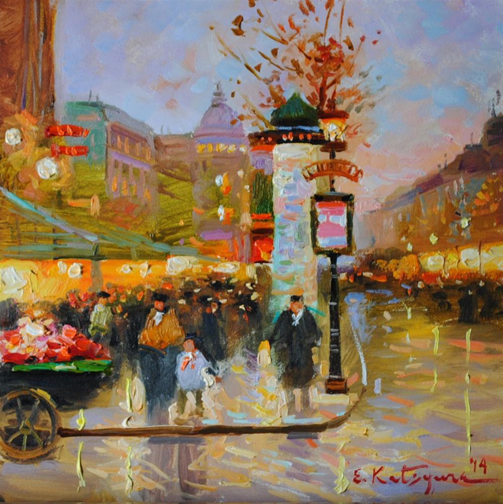 """Grand Boulevard"" original fine art by Elena Katsyura"