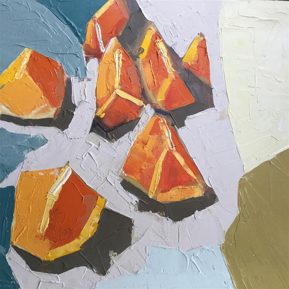 """Palm Beach Breakfast three"" original fine art by pamela kish"