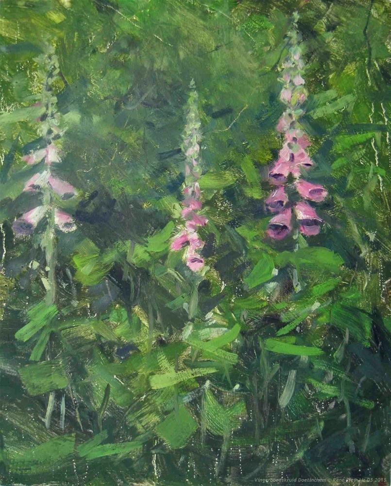 """Foxgloves Doetinchem, The Netherlands"" original fine art by René PleinAir"