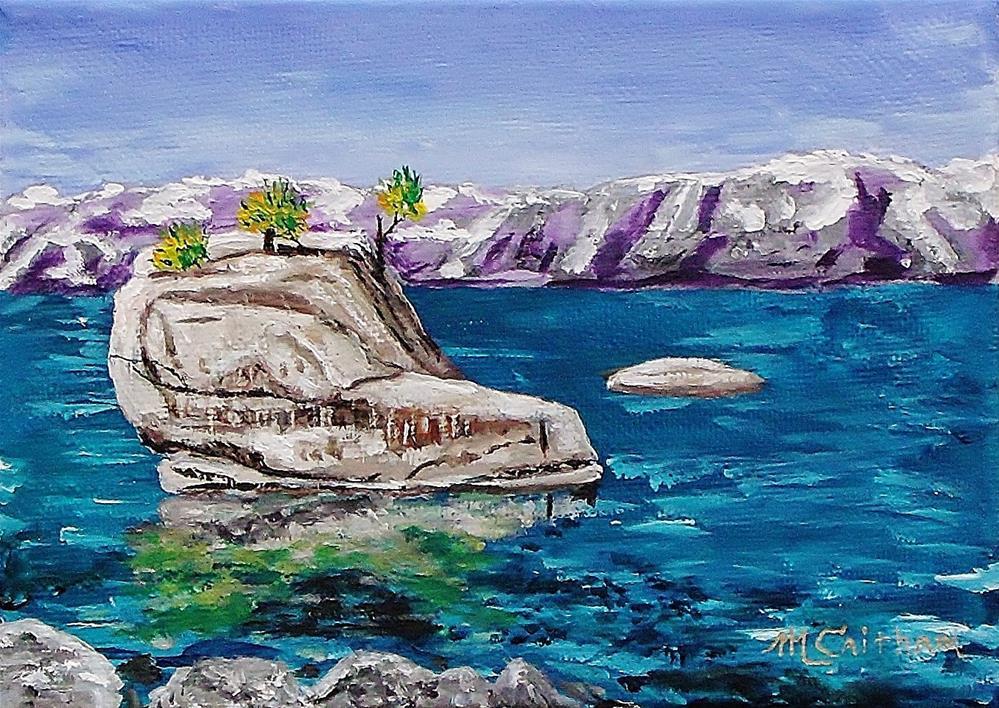 """Bonsai Island, Lake Tahoe"" original fine art by Mike Caitham"
