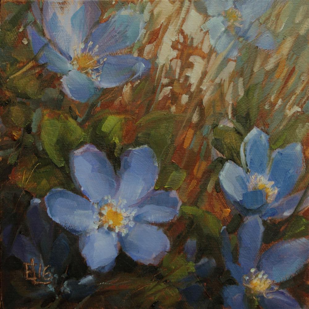 """Hepaticas"" original fine art by Emilia Leinonen"