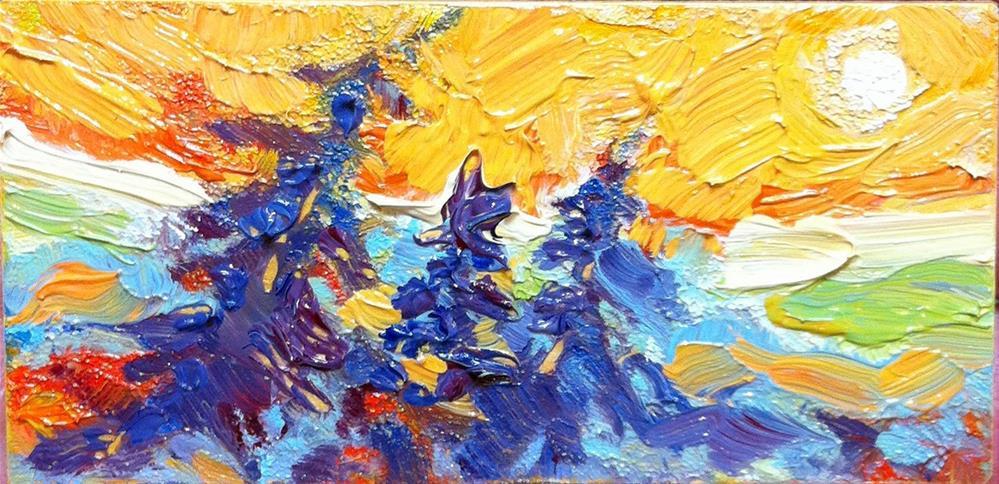 """Blue Spruce in Miniature"" original fine art by Laura Gable"