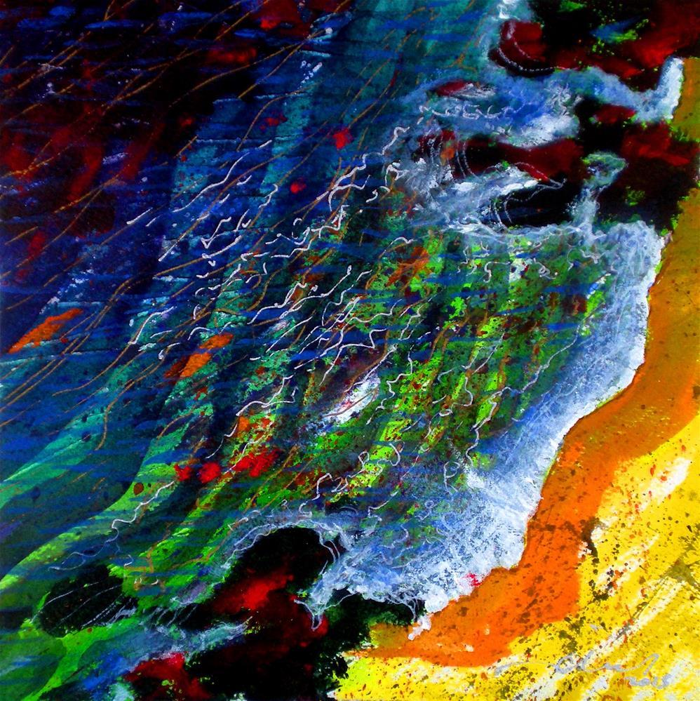 """Liquid Abstract #8 - 150701"" original fine art by richard rochkovsky"