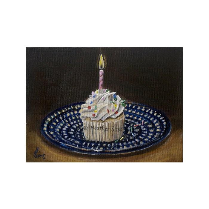 """Cupcake: Polish Pottery LXVIII"" original fine art by Heather Sims"