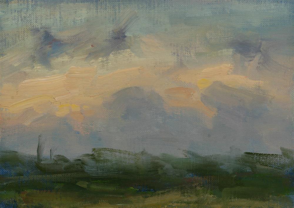 """Summer Sunrise 07"" original fine art by Scott Serafica"