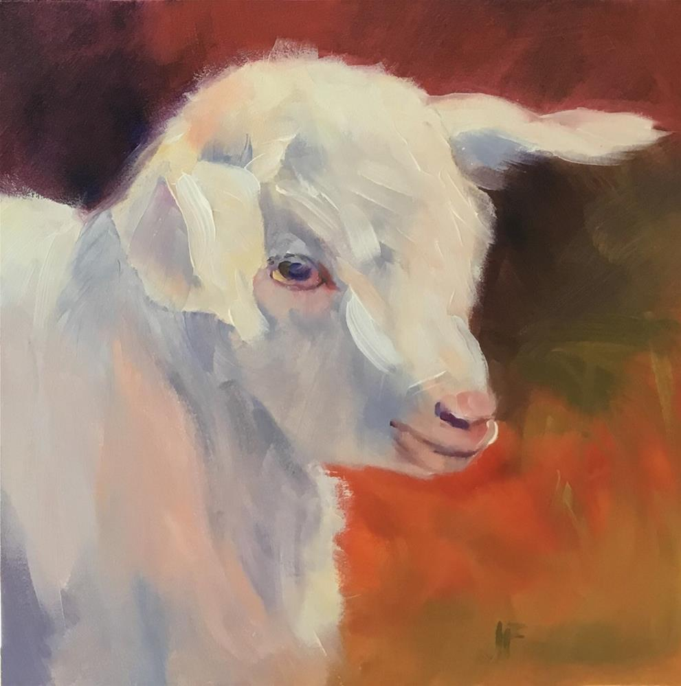 """Young Goat"" original fine art by Jean Fitzgerald"