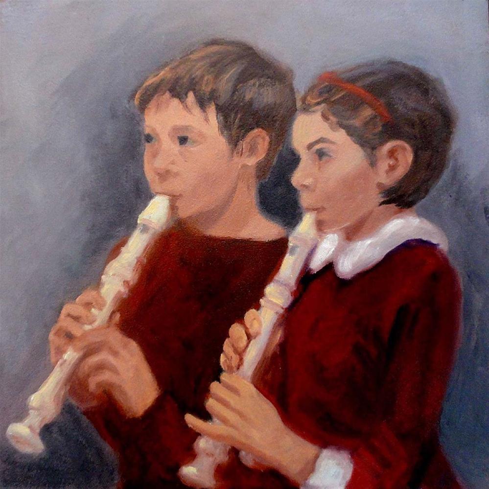 """""""The Duet"""" original fine art by Cietha Wilson"""