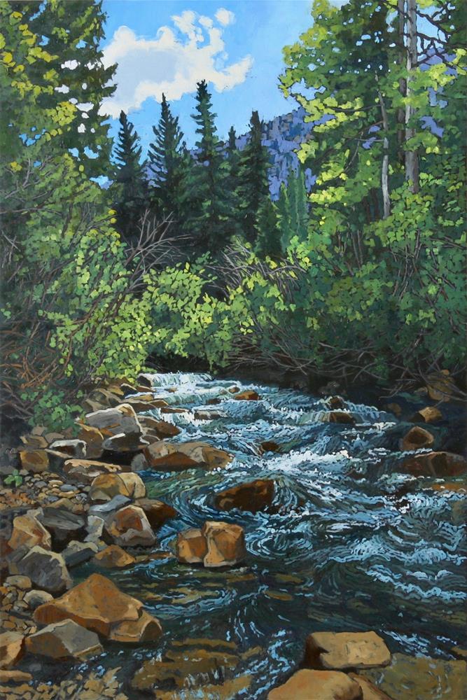 """""""Snowbird Summer I"""" original fine art by Carol Granger"""
