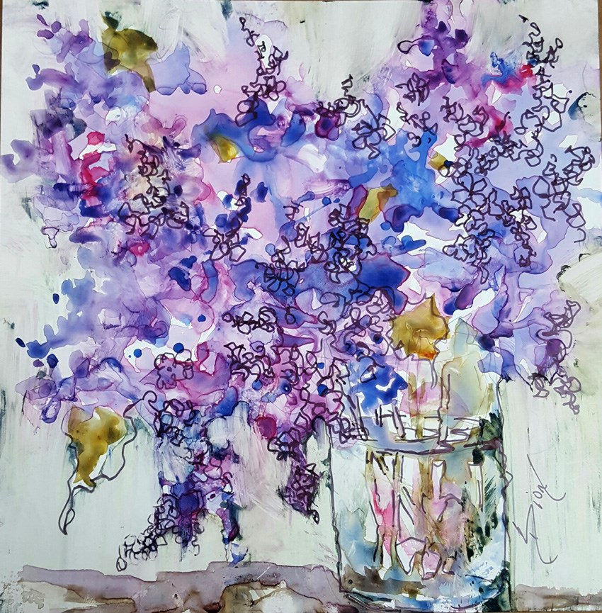 """Beauty in a Jar"" original fine art by Sue Dion"