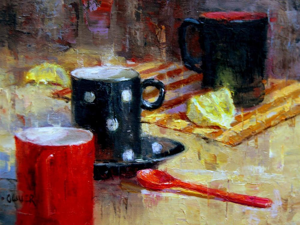 """""""Mugging for the Camera"""" original fine art by Julie Ford Oliver"""