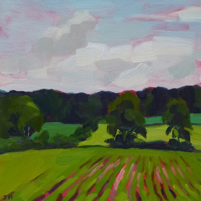 """Michigan Field"" original fine art by Jessica Miller"