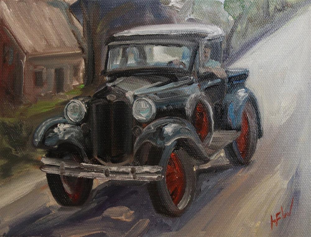 """Sunday Drive"" original fine art by H.F. Wallen"