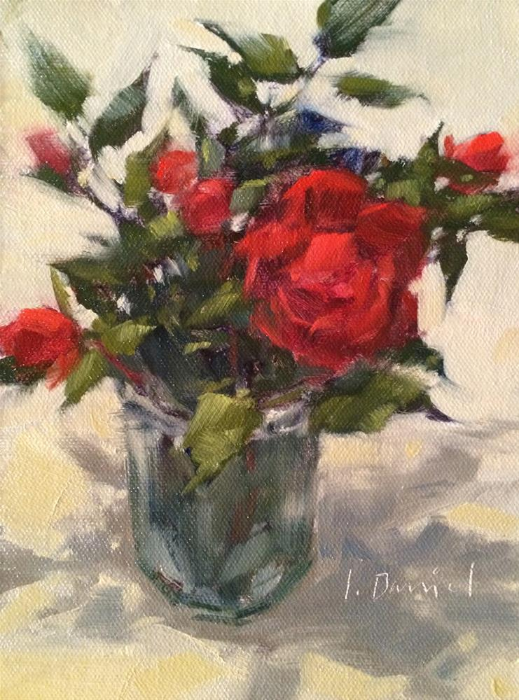 """Last Roses - Eight of 30 in 30"" original fine art by Laurel Daniel"
