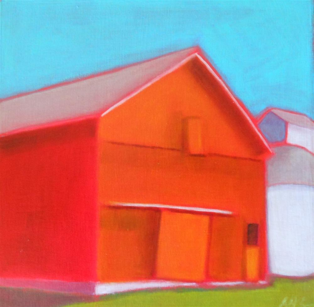"""Classic Red 2"" original fine art by Almira Hill Grammer"