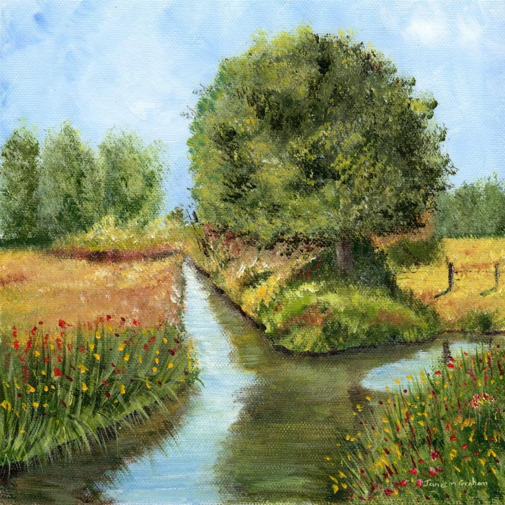"""Country River"" original fine art by Janet Graham"