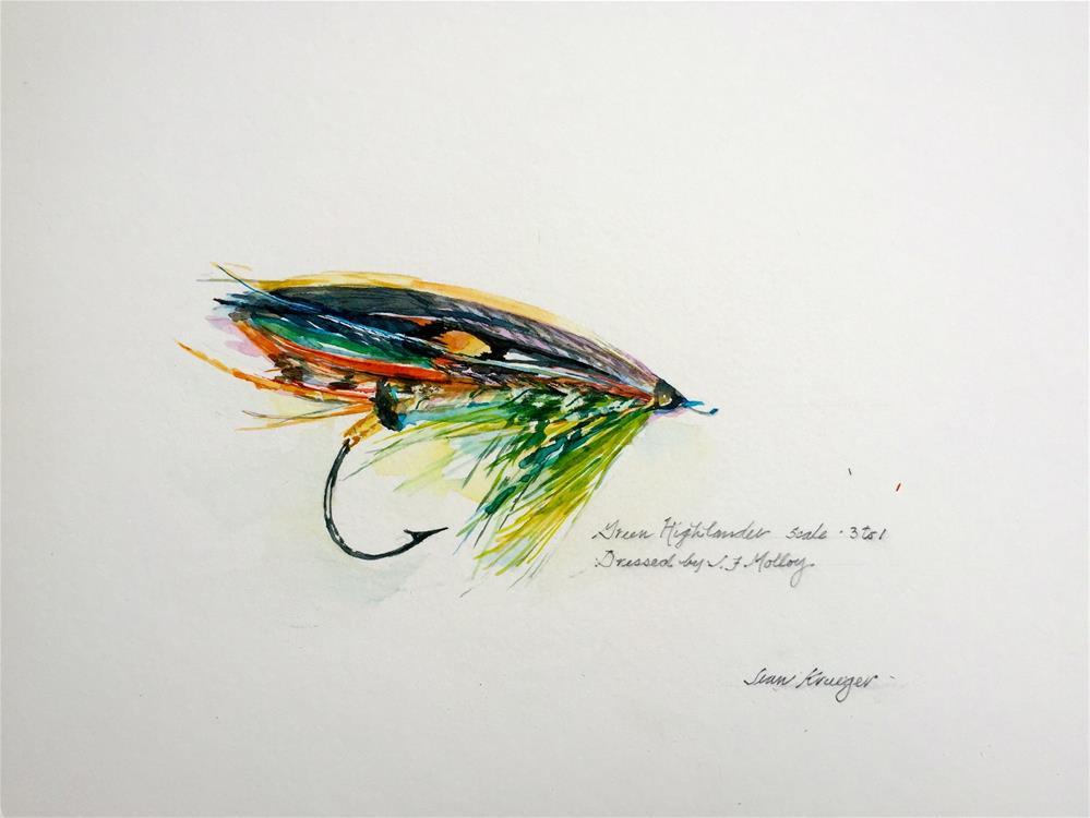 """""""Green Highlander"""" original fine art by Jean Krueger"""