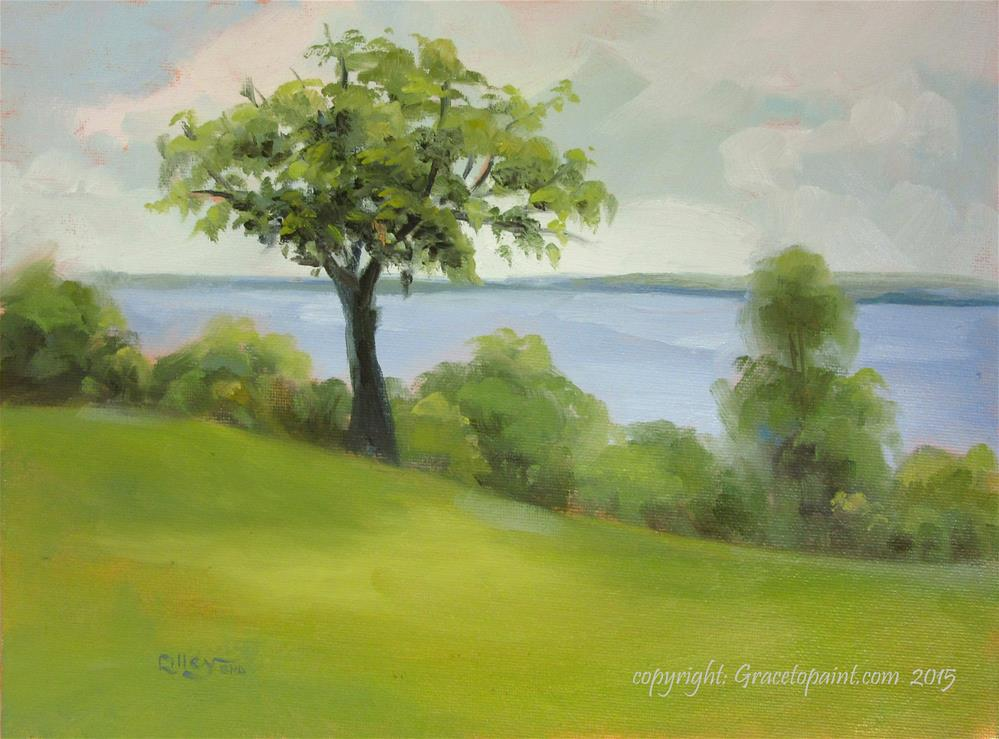 """""""Potomac (as seen from Mt. Vernon property)"""" original fine art by Maresa Lilley"""
