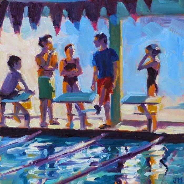 """""""Swim Team No. 2"""" original fine art by Jessica Miller"""