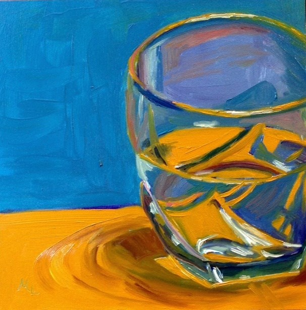 """Half Empty or Half Full?"" original fine art by Marjie Laizure"