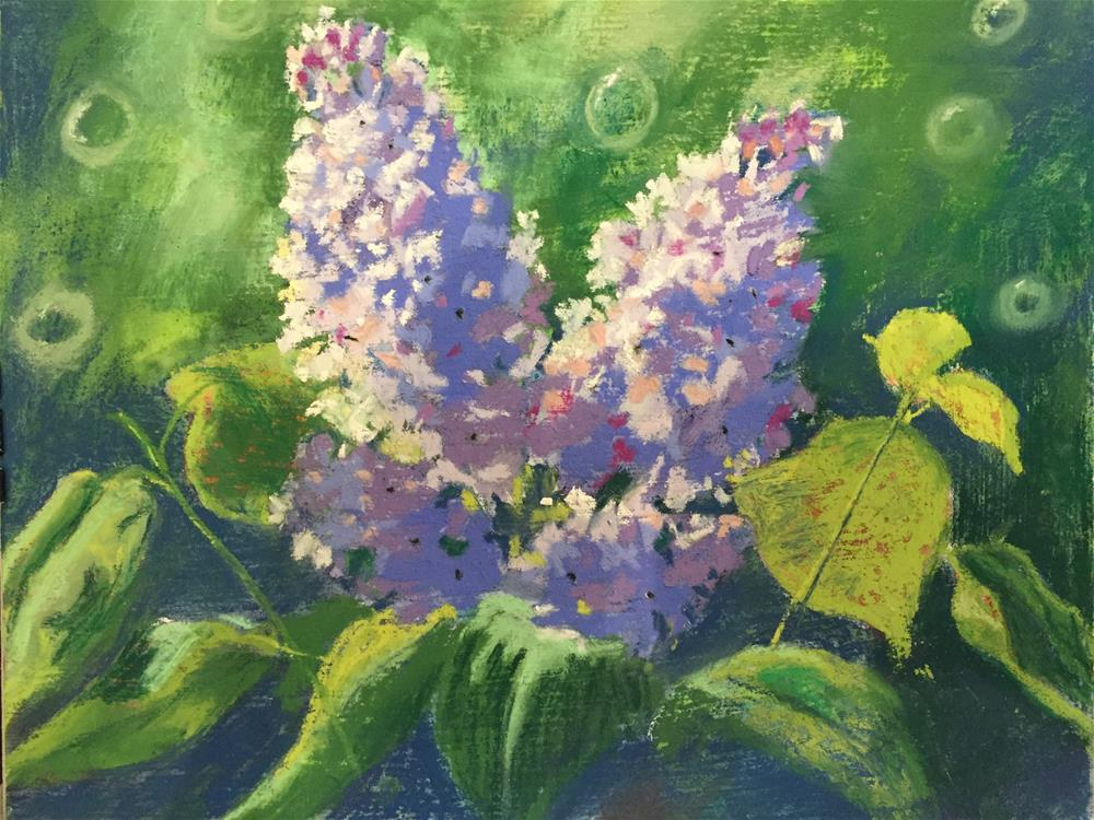 """Lilacs in bloom"" original fine art by Natasha Ramras"