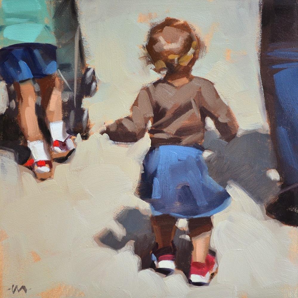 """Wiggly Walk"" original fine art by Carol Marine"