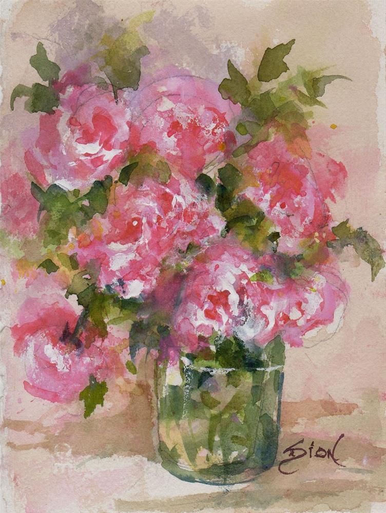 """Summer Posey"" original fine art by Sue Dion"