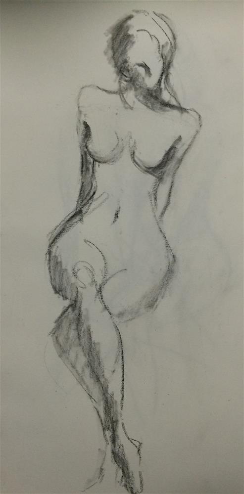 """Girl-6-"" original fine art by Naomi Bautista"