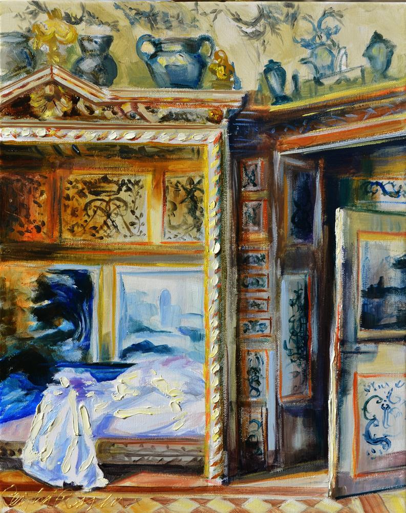 """""""NORMANDY BEDROOM"""" original fine art by Cecilia Rosslee"""