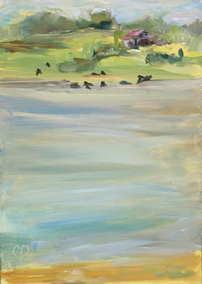 """Wilt Farm Plein Air Study"" original fine art by Carol DeMumbrum"