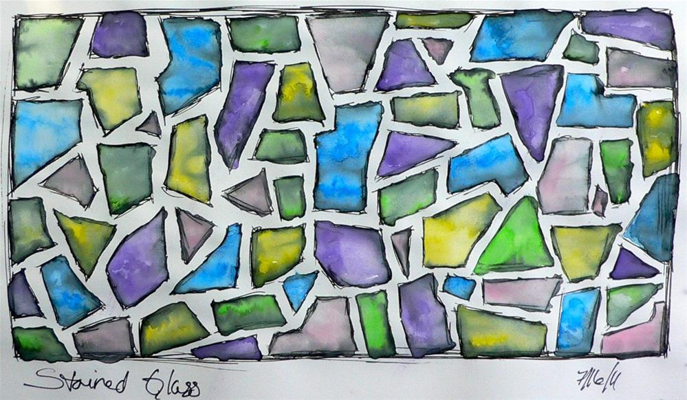 """""""Stained Glass"""" original fine art by Kali Parsons"""