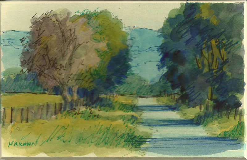 """Road Sketch 3"" original fine art by Rita Kirkman"