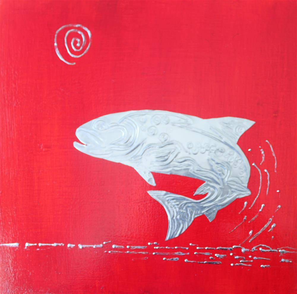 """""""Pacific North West Salmon"""" original fine art by Christiane Kingsley"""