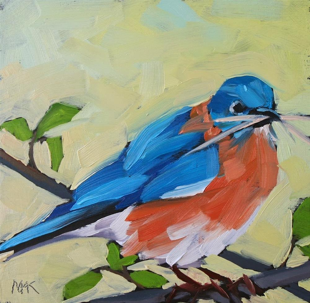 """""""Mr Blue"""" original fine art by Mary Anne Cary"""