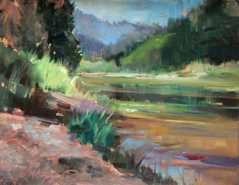 """A Second River View"" original fine art by Mary Maxam"