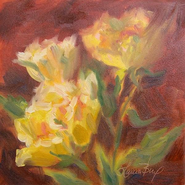 """""""Yellow Bunch - 303"""" original fine art by Laura  Buxo"""