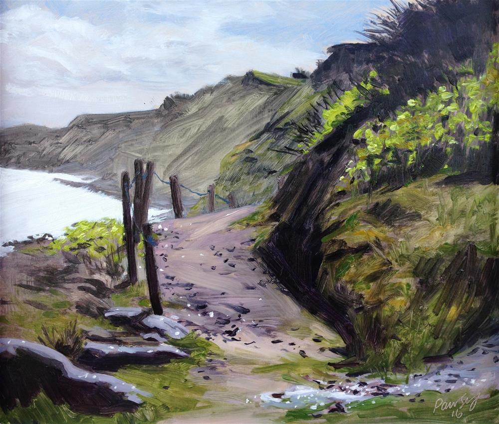 """Footpath to Sidestrand #2"" original fine art by Tanya Pawsey"