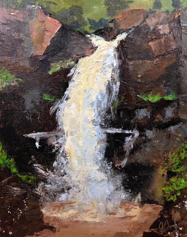 """High Falls"" original fine art by Judith Anderson"