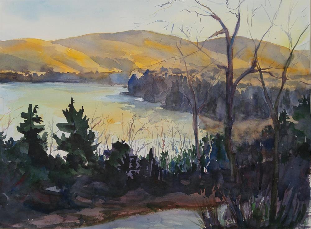"""lake ninevah vt"" original fine art by angela scully"