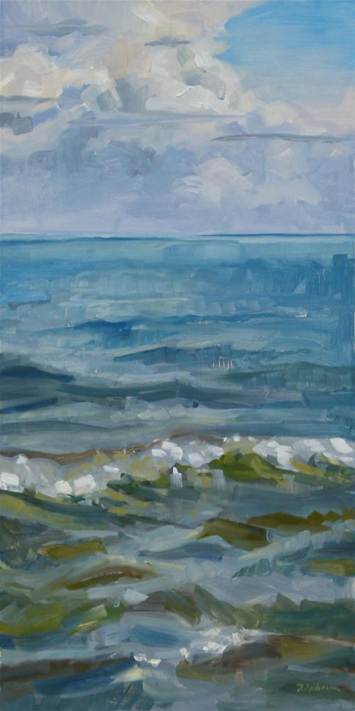 """Lake and Sky, Right"" original fine art by Deb Anderson"